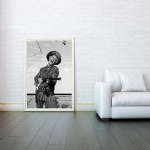 Doris Day, Decorative Arts, Prints & Posters,Wall Art Print, Poster Any Size - Black and White Poster